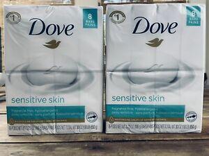 Dove Soap Beauty Bar, Sensitive Skin Unscented - Lot of 16 Bars (3.75 oz Each)