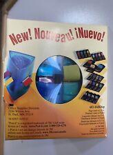 "3M Post-It Flags .47"" x 1.7"" Assorted Bright Colors Triangular Dispenser - New"