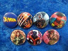 "1"" pinback button set inspired  by ""X-Men"" Wolverine Marvel Avengers"