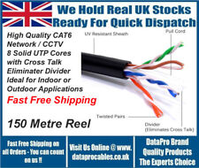 NEW 150m External CAT6 Black Outdoor Ethernet Network Cable Reel UTP FREE POST
