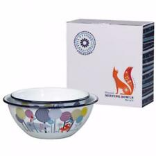 FOLKLORE Enamel Serving Bowls (Set of 2)
