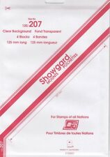 Showgard Clear Stamp Mounts 120mm / 207 For Ameripex Presidential Series 5 Pcs