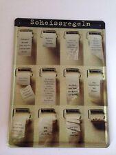 XXL Blechschild Scheissregeln 30x40 cm - Funschild WC Klo Toilette Toilet Schild