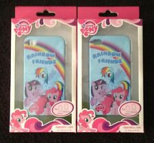 *LOT OF 2 NEW* MY LITTLE PONY HARD Snap PHONE CASE COVER For IPHONE 4 & 4S (MLP)