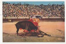 Corrida de Toros Toro de Cabeza Spain Vintage Postcard 461a