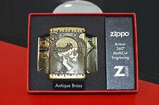Zippo Tête de Mort   Luxury Armor Dans ça boite d'origine  collection