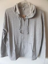 AE American Eagle Womens XL Lightweight Soft Full Zip Gray Hoodie Sweatshirt New
