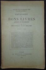 Catalogue de bons livres de la bibliothéque de M. A. GAILLARD / 1890