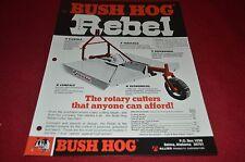 Bush Hog Rebel Rotary Cutter Dealer's Brochure YABE10