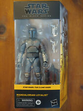 "MANDALORIAN LOYALIST Hasbro Star Wars Black Series 6"" Walmart Action Figure MIB"