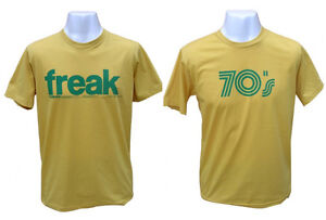 Mens Vintage Manga Retro Freak Soul Funk 70s 70's Printed Funny T-shirt Large