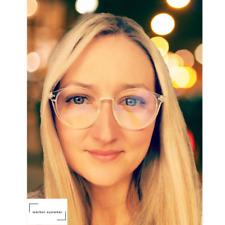 WARBER EYEWEAR - Blue Light Blocking Glasses Computer– Round Crystal Glasses