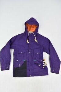 Garbstore Portobello Men's Parka Jacket Size Small Purple Zip Up 100% Cotton
