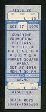 Original 1975 Beach Boys Unused Full Concert Ticket Indianapolis Good Vibrations