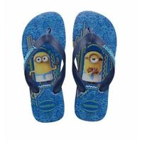 Havaianas Kids Minions Blue Star Rubber Flip Flops Sandals All Sizes