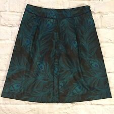 east 5th Skirt 14 Peacock feathers Quality career structured work Cute CJ