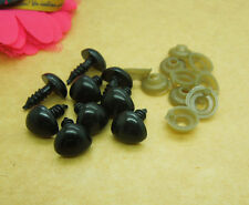 100pcs Black Plastic Safety Nose Triangle For Doll Animal Stuffed Toys 11x9mm