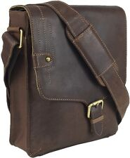 UNICORN LONDON Real Leather Bag iPad, Kindle, Tablets Holder - Brown Khaki #8G