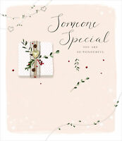 Someone Special Embellished Christmas Greeting Card Special Xmas Cards