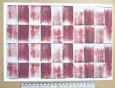 1/32 scale - rusty corrugated iron self adhesive vinyl - A4 sheet (210 x 297 mm)