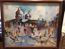 43 X 36 Large Size Framed Canvas Venice Venetian Venezia Unknow Artist