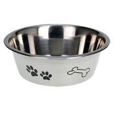 200 Medium Stainless Steel Dog Pet Feeding Water Bowl Paw & Bone Design