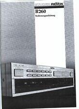 Revox  Bedienungsanleitung user manual  für B 260 deutsch Copy