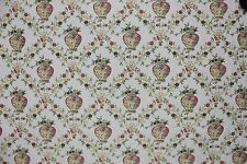 6 1/3 YARDS FLORAL DAMASK Flowers in Vase Upholstery Fabric Victorian Sofa Chair