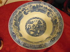 Ironstone Willow Pattern Transfer Ware Pottery