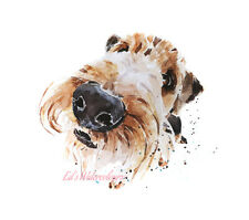 Airedale What's cooking Mom? - Watercolour Print.Airedale Terrier,Airedale art