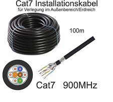 100m Draka CAT7 Datenkabel schwarz UC900 SS23 für Außenbereich/Erdverlegung
