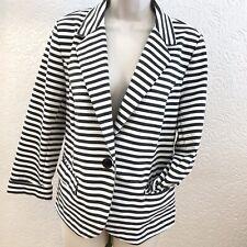 Blazer Large 14 16 Jacket Jersey Rayon Stretch CATHERINE MALANDRINO Pockets #bh1
