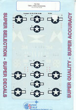 1/72 SuperScale Decals Navy TBM-1 TBM-3 Avenger VC-76 VT-83 VC-88 72-733