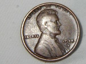 1914-D  LINCOLN WHEAT CENT. KEY DATE COIN > HIGH GRADE > FREE SHIPPING