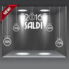 vetrofanie vetrine wall stickers natale saldi allestimento vetrine 2016  sconti fbcd99ed7d6
