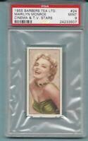 1955 BARBERS TEA MARILYN MONROE CINEMA & T.V. STARS PSA 9 (MINT) COMPLETE SET