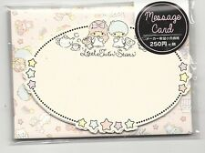 Sanrio Little Twin Stars Notecards With Envelopes Stickers Message Cards Tea