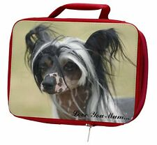 More details for chinese crested dog 'love you mum' insulated red school lunch box, ad-chc2lymlbr