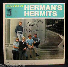 HERMAN'S HERMITS-PETER NOONE-Autographed THE BEST OF HERMAN'S HERMITS Album