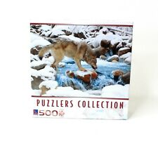Puzzlers Collection 500 Piece Wolf Drinking Outdoor Ice Snow Puzzle New Sealed