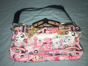 Tokidoki For Lesportsac Citta Rosa Luna Duffel Purse Bag