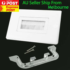 Brush Wall Plate In-Wall Cable Management white AU Fast Shipping OZ
