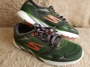Skechers Men's GOmeb Speed 3 2016 Running Shoe Green Orange Size 7.5