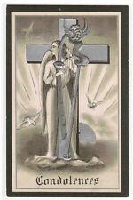 Condolences Angel Harp Cross Sympathy Mourning Series 551 1910c postcard
