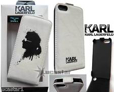 Funda iPhone 5 KARL Lagerfeld Piel Blanca Gaffiti