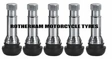 5 nouveaux chrome roue en alliage tubeless caoutchouc pneu valve TR414 + silver dust cap