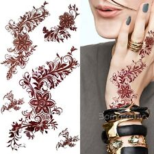 1 Sheet India Painting Tattoo Decal Henna Body Art 3D Paper Temporary Tattoo