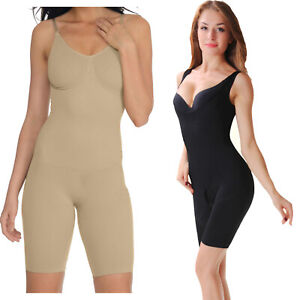 Womens Full Body Shaper Bodysuit Thigh Bum Lift Firm Slim Control Shapewear UK