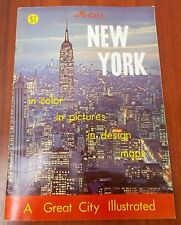 Nester's NEW YORK in color pictures design maps - A Great City Illustrated 1972