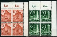 GERMANY DEUTSCHES REICH SCOTT#492/93 BLOCK 2 STAMPS NH & 2 HINGED  MINT AS SHOWN